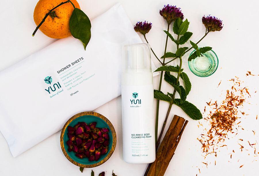 No rinse body cleansing foam - YUNI product