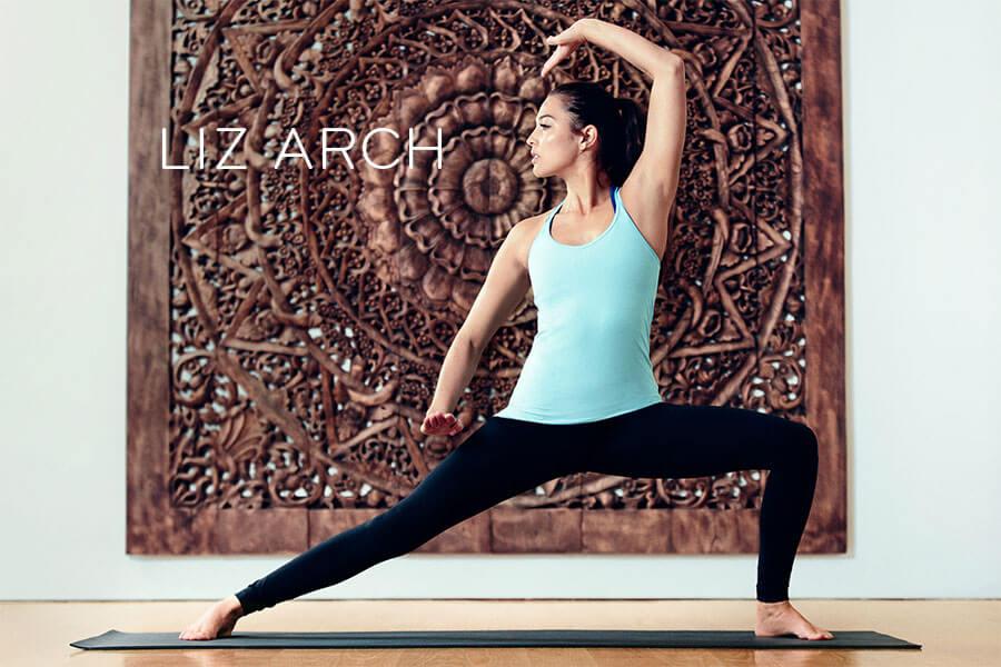 Liz Arch Practicing Yoga