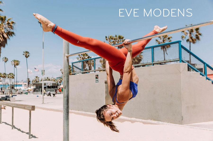 Eve Modens Practicing Yoga