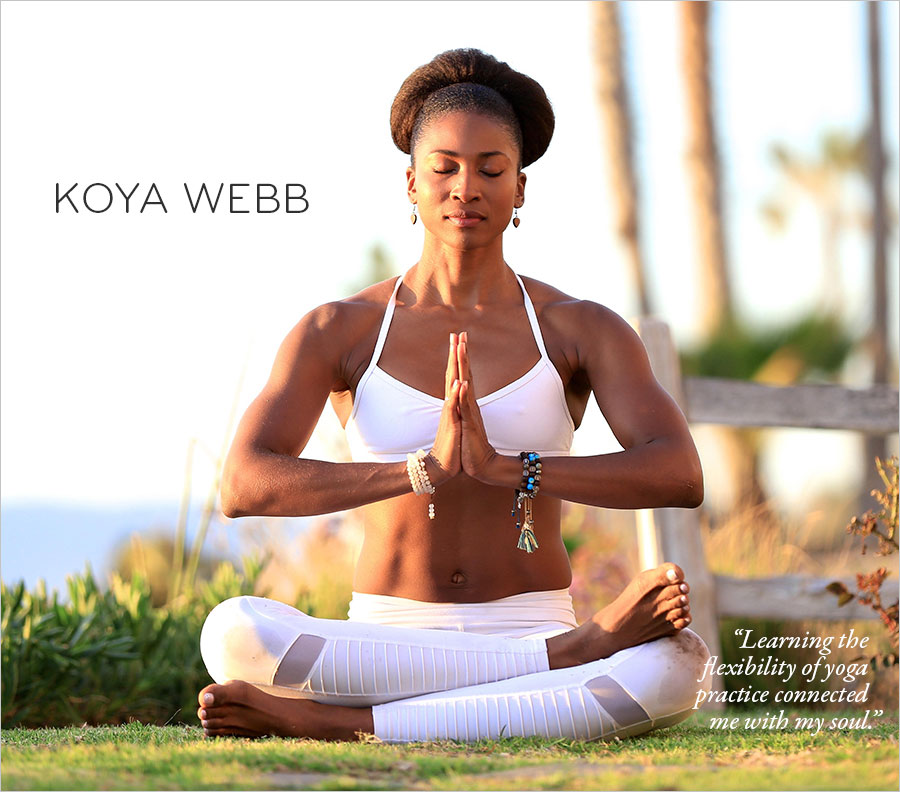 Koya Webb Practicing Yoga