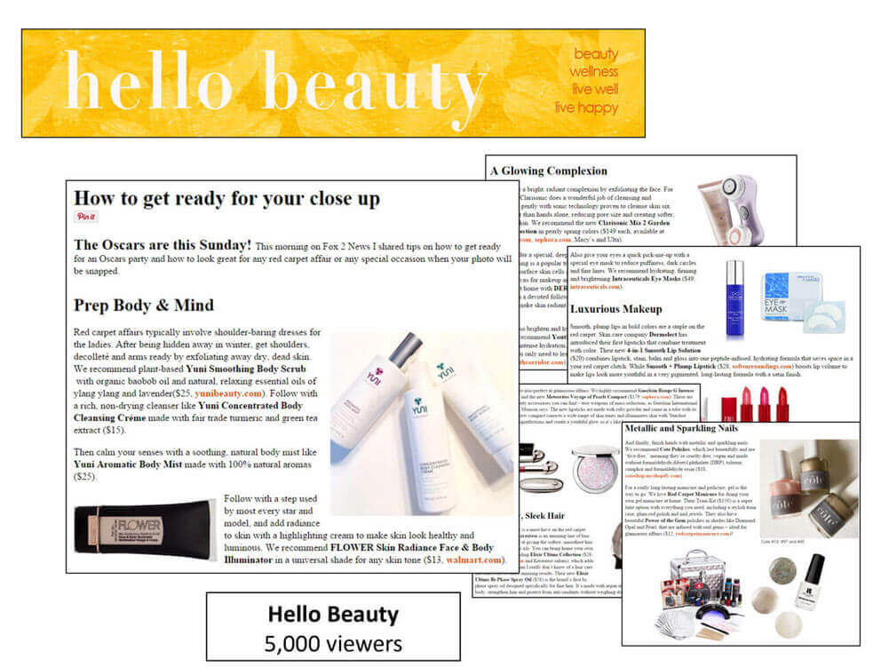 Yuni Soothing Body Scrub and Concentrating Cream Article in Hello Beauty