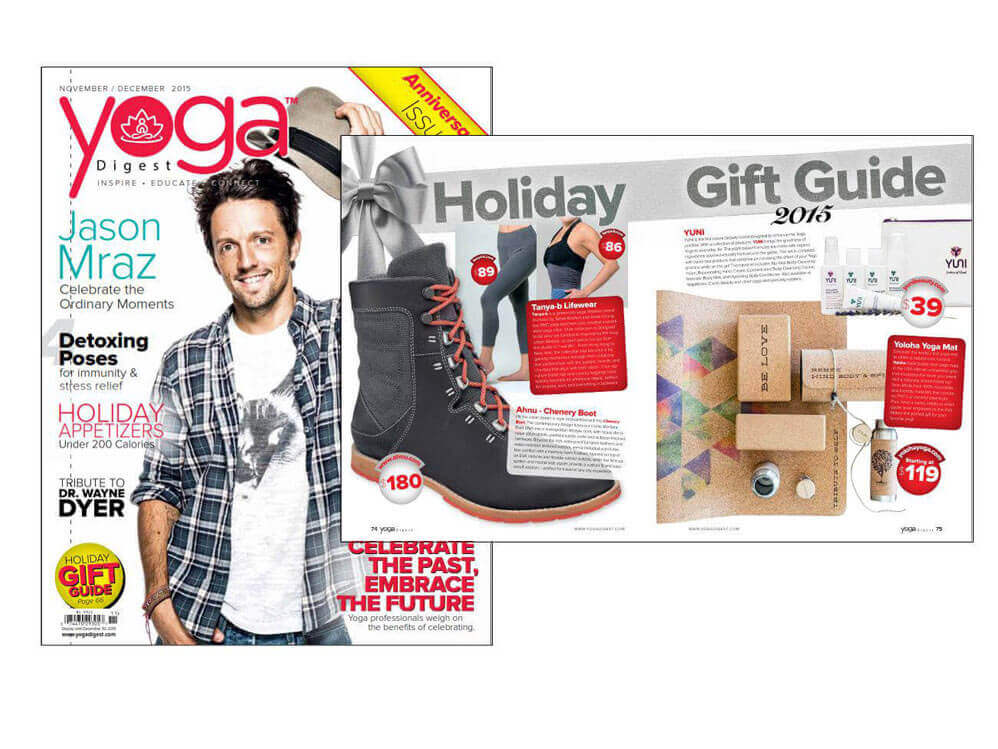 Yoga Digest Magazine Holiday Gift Guide 2015