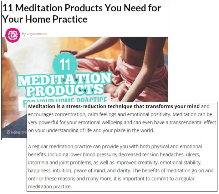 Meditation Products for Home Practice Article