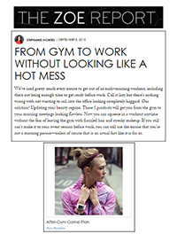 The ZOE Report From Gym to Work Article
